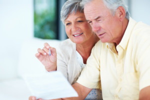 Couple discussing social security benefits